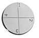 Engraved SEM pin stub Ø19.0 diameter with 4 numbered fields aluminium