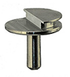Low profile aluminum grade SEM pin stub 12.7 diameter with 90º of pre-tilt for FEI or TESCAN Systems.