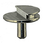 Low profile aluminum grade SEM pin stub 12.7 ∅ diameter with 90° of pre-tilt for ZEISS Crossbeam Systems.