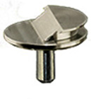 Low profile aluminum grade SEM pin stub 12.7 ∅ diameter with 36° of pre-tilt for Zeiss Crossbeam Workstations.
