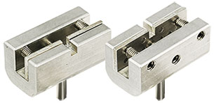 small vice gripping stub holder with clamping plate